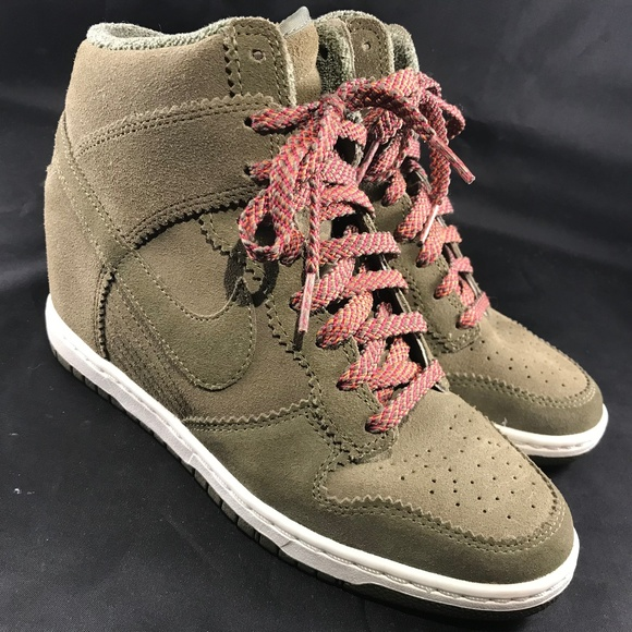 59313ca49662 Nike Dunk Sky Hi Sneaker Wedge Medium Olive Total